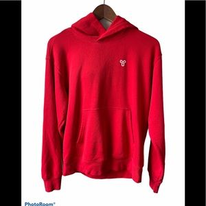 TNA red oversized hoodie small